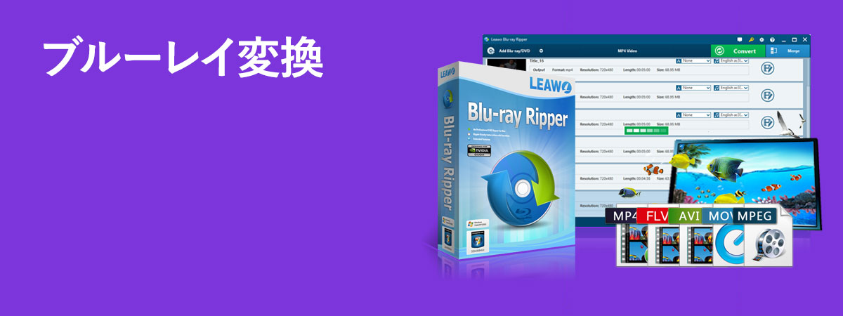 Blu-rayをMP4、MP3に変換