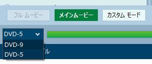 DVD-5を選択