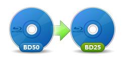 BD-50をBD-25に圧縮