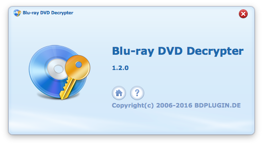 Blu-ray DVD Decrypter Macのインターフェース