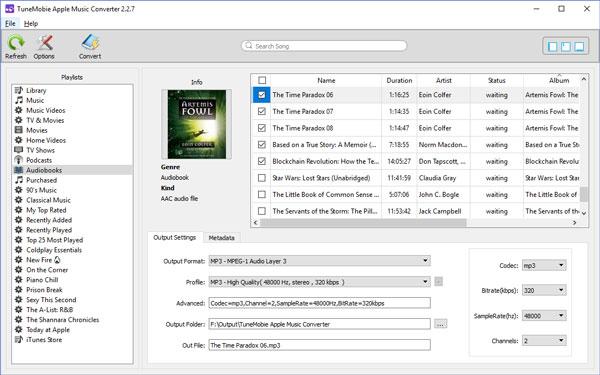 iTunes M4Bオーディオブックを変換