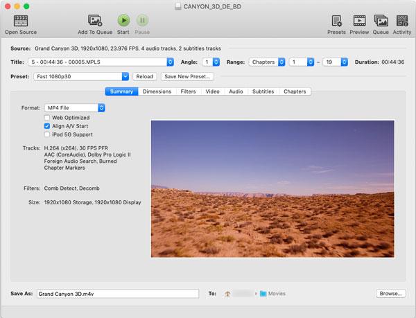 HandBrake for Mac:無料Blu-rayリッピングソフト