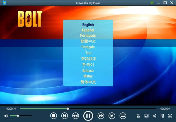 Blu-ray映画Bolt(ボルト)メニュー