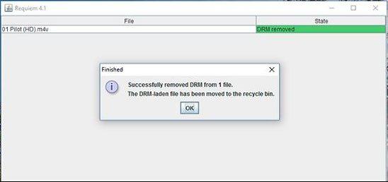 Requiem:無料iTunes DRM解除ソフト