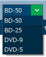 Leawo Blu-rayコピーで出力形式を選択