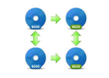 BD-50とBD-25間コピー