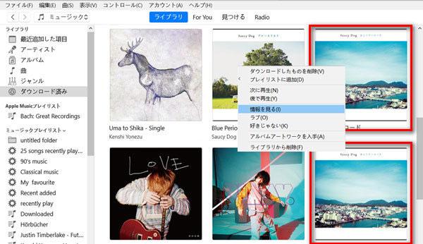 Apple Music アルバムの情報